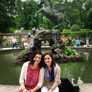 Carson and I in the garden used in the film Sound of Music