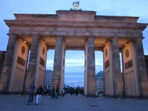 The Brandenburg Gate is a cultural and historical icon.  (photo by Alexa Blanchard)
