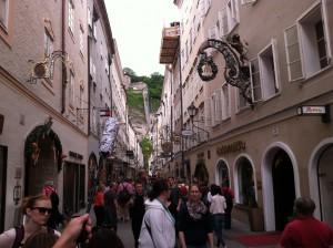 A street in Salzburg, Austria