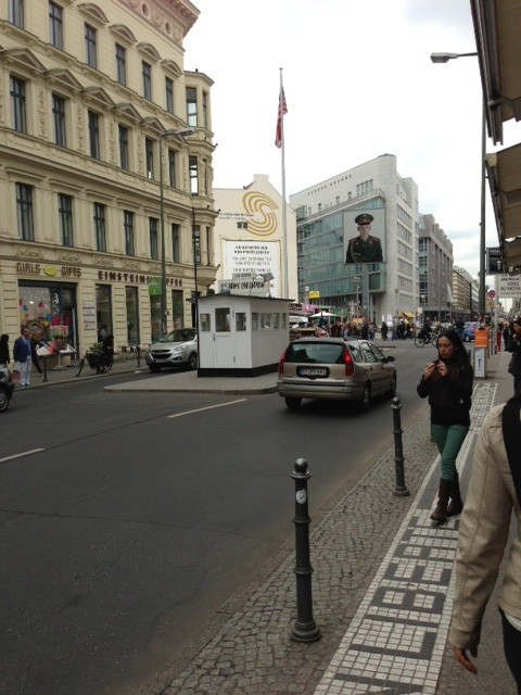 The Checkpoint Charlie museum is a tribute to crossing checkpoint between East Berlin and West Berlin during the Cold War.