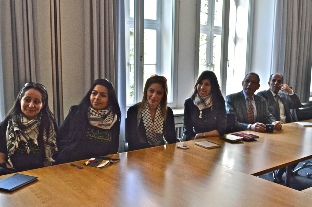 Young Palestinian Diplomats at ZDF during our lecture and Q&A session.