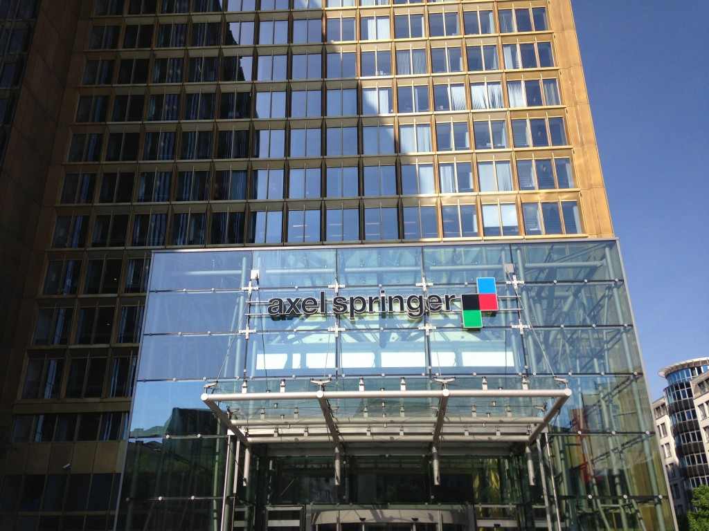 The exterior of Axel Springer.