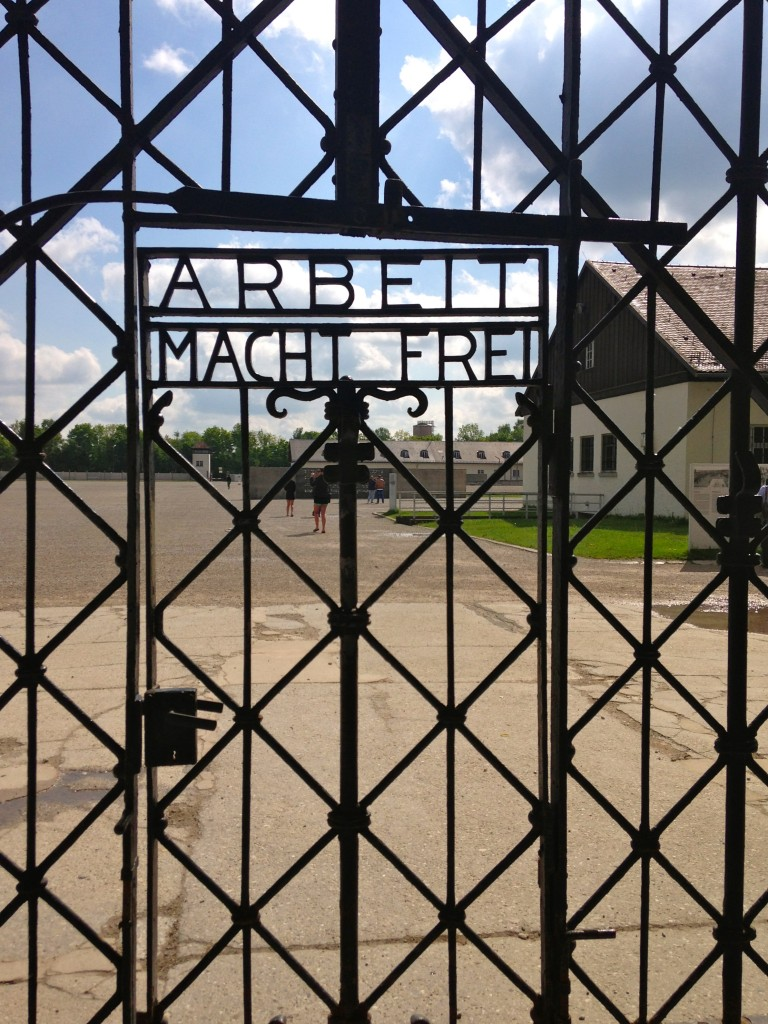 the doors to the camp read arbeit macht frei - labor makes you free.
