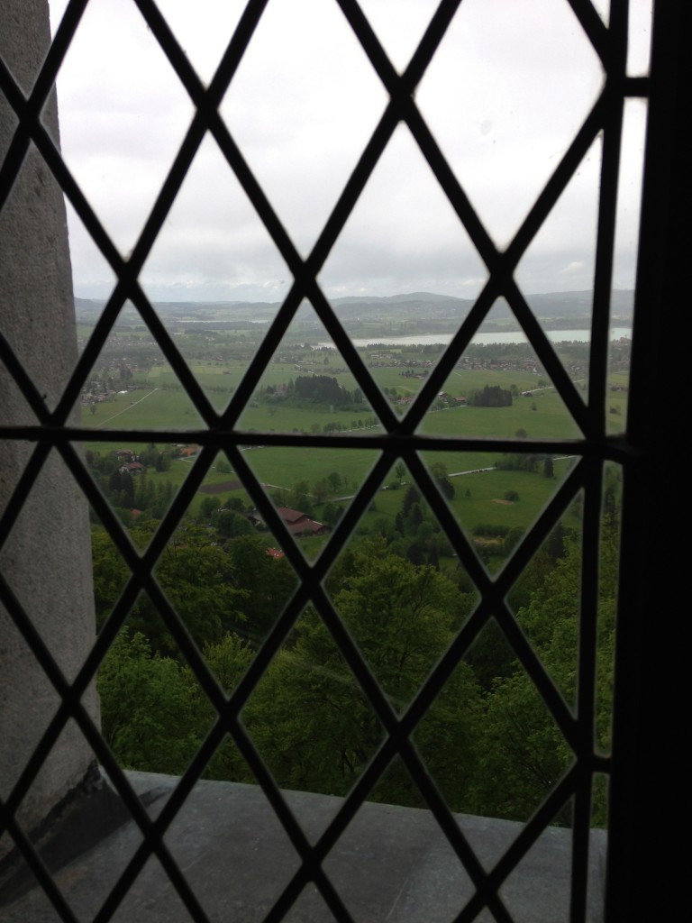A view from inside Neuschwanstein Castle.