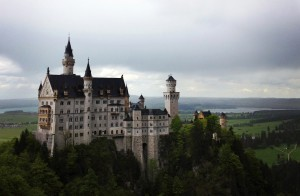 Neuschwanstein is nestled in the hills of Hohenschwangau, Bavaria (photo by Katie Pflug)