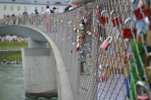 Lovelocks on the Makarsteg Bridge