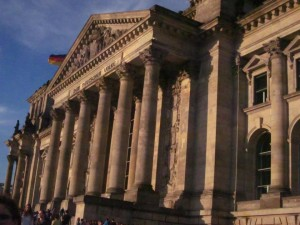 The Reichstag building boasts historical architecture and a powerful message: Dem Deustchen Volke