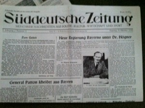 Suddeutsche Zeitung's first issue was published in 1975. (photo by Carson Allwes)