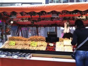 This Marienplatz street vendor sells fresh produce. (photo by Carson Allwes)
